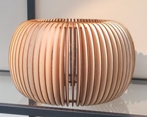 Beautifully Detailed ~ Wooden Lampshade ~ Laser Cut ~ rustic lampshade ~ lodge decor ~ small lamp shade ~ Scandinavian