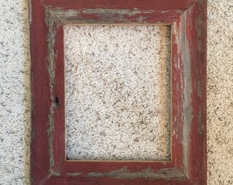 8x10 Distressed Red Barnwood Frames (#538)