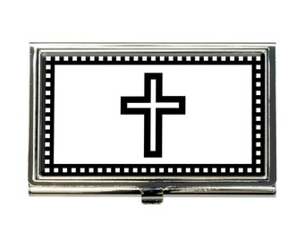 Christian Cross Business Credit Card Holder Case