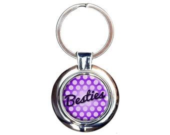 Besties My Best Friend Keychain Key Ring