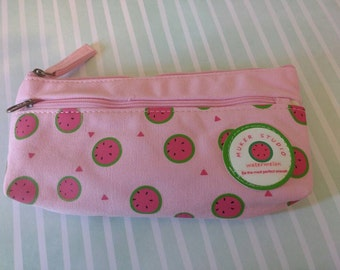 Pink watermelon pencil case