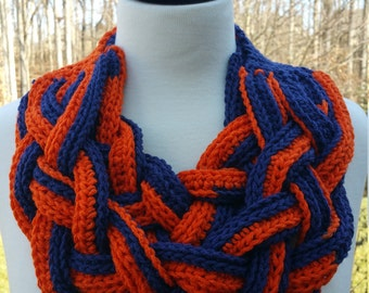 Denver Broncos Braided Double Layered Cowl