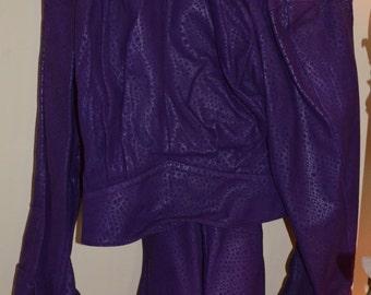 Vintage  Purple Suede Suit