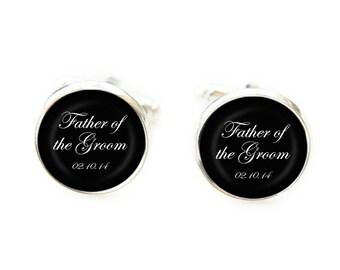 Father of the Groom Cufflinks, Wedding Cufflinks, Photo Cufflinks, Custom Cufflinks, Gift from Bride, Keepsake Cufflinks, Dad Cufflinks