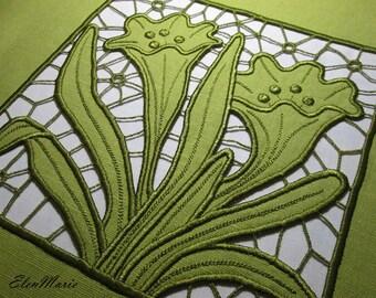 MACHINE EMBROIDERY DESIGN - Richelieu cutwork Krokus 5*7_10*10