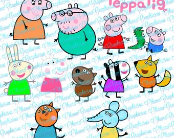 Nick Jr Inspired Peppa Pig, Family, Friends and Logo SVG
