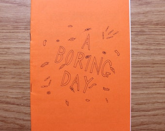 Experimental Mum #1: 'A Boring Day', comic zine illustration drawing handmade DIY