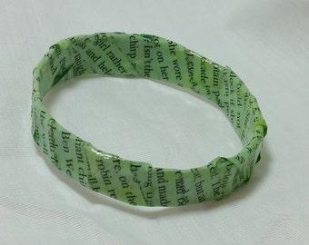 The Secret Garden Green paper mache bracelet
