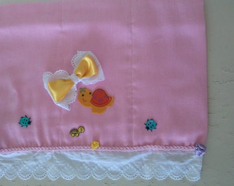 Burp Cloth Pink and Yellow