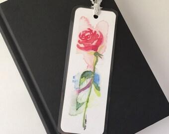 Bookmark - Original Watercolor Print of a Rose