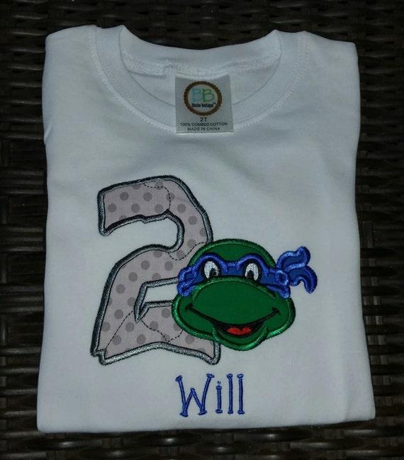 Ninja Turtle Shirt Ninja Turtle Birthday Shirt Turtle Shirt