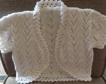 Hand knitted bolero jacket