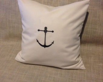 Embroidered Anchor Cushion Cover
