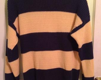 Grungy Yellow 90s Sweater