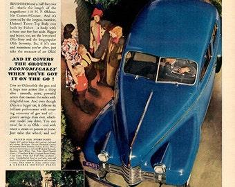 1940 Oldsmobile Olds Original Car Print Ad