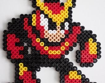 Megaman 2 Quickman made with Hama Beads