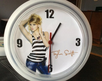 Taylor Swift Upcycled Wall Clock