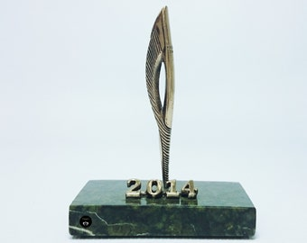 "Bronze statuette ""Torch"" the symbol of the Olympic games Sochi-2014