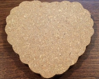 Large Wooden Scalloped Hearts Package
