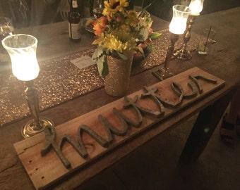 Handmade Rustic Wedding Sign