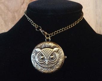 Owl Pocket Watch