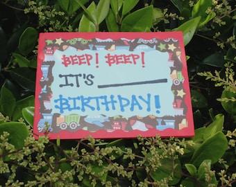Beep Beep Birthday! Greeting Card