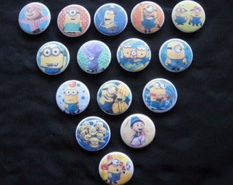 Despicable Me 2 Buttons Set of 15