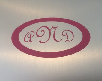 Vinyl Monogram Stickers