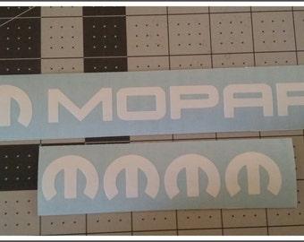 Mopar Decal Vinyl Sticker Combo