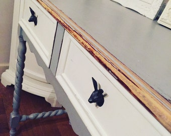 Console table with barley twist legs