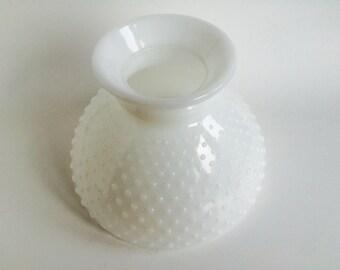 Vintage Milk Glass Hobnail Lamp Shade