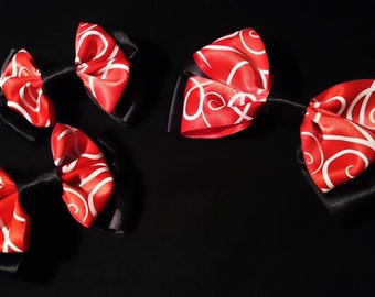 Mickey/Minnie Mouse inspired bow