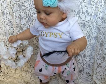Gold Gyspy lettering shirt