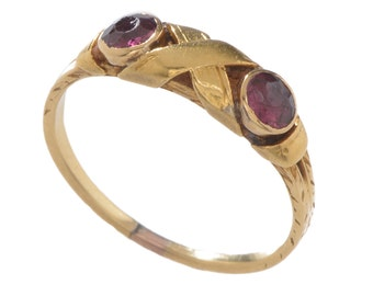 Antique Yellow Gold and Amethyst Ring