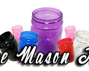 8 16OZ Plastic Mason Jars, Wedding Favors, Baby Showers, Soap Dispensers, Canning, Baking Ingredients, Bachelorette Parties
