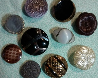 Vintage Large Glass Button Assortment