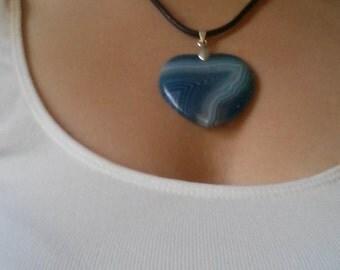 onyx agate pendant necklace