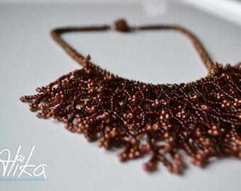 Gorgeous Brown Necklace by Alika