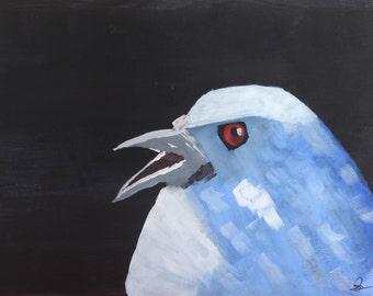 Modern Art Bird Painting - Fine Art - 16x20 Acrylic painting