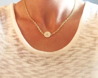 charm necklace, gold charm necklace, white charm