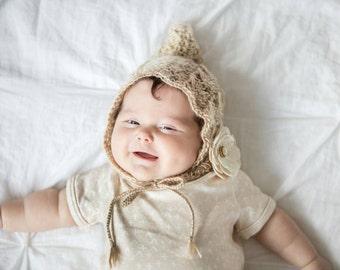 Baby Bonnet Crochet Pixie Bonnet Baby Hat The Isabel Pixie Bonnet