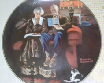 """Knowles Light Campagne Series """"Evening Ease"""" Collectors Plate*"""