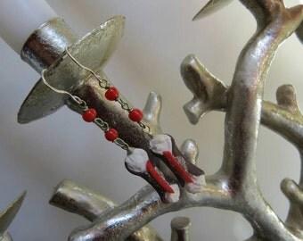 Sicilian cannolo earrings