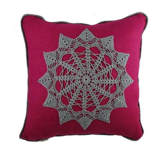 Decorative Valentine Pillows : Valentine s Day pillow Linen decorative PIllow Cloudia 1