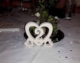 beautiful heart table numbers.