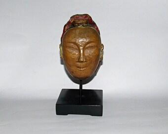 Wooden puppet head