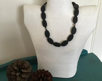 Black Resin Necklace
