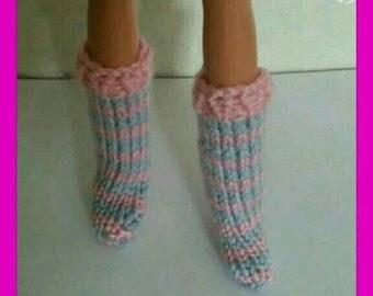 Barbie Dolls hand knitted socks