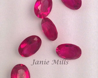 Ruby Faceted 6x8 mm oval Gemstone
