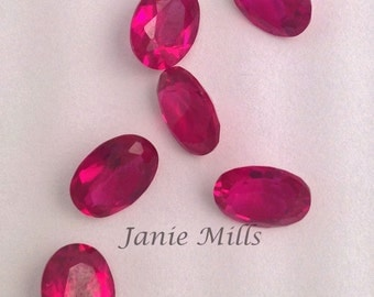 Ruby Faceted 6 x 8 mm oval Gemstone